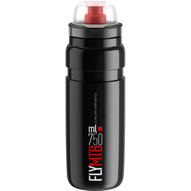 Elite Fly MTB Drinking Bottle 750ml black/red logo
